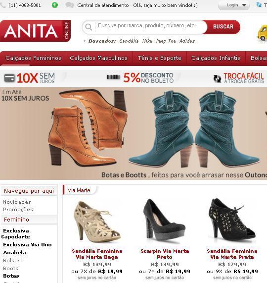 Anita Online Calçados 2012 – www.anitaonline.com.br