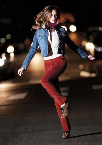Calças de Veludo Femininas – Tendências 2012