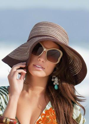 Chapéu de Praia Feminino Moda 2012