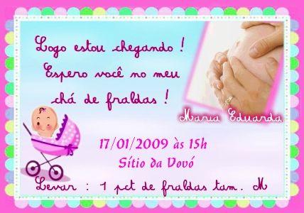Modelos De Convites De Chá De Bebê Fotos