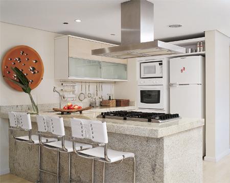 Cozinhas americanas decoradas dicas e fotos - Banquetas para cocina ...