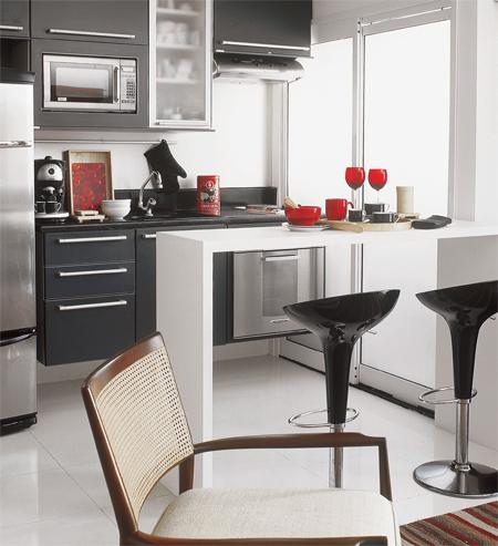Cozinha americana pequena planejada dicas para decorar for Modelos de cocinas pequenas con desayunador
