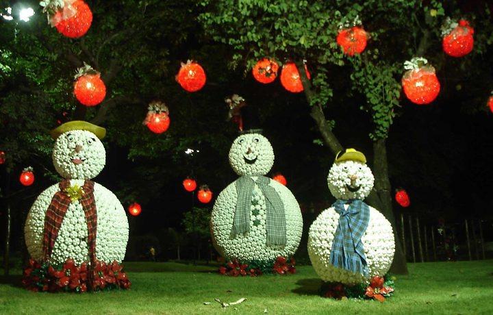 Decoraç u00e3o de Jardins com Garrafas Pet Dicas e Fotos -> Decoração De Natal Simples Escola