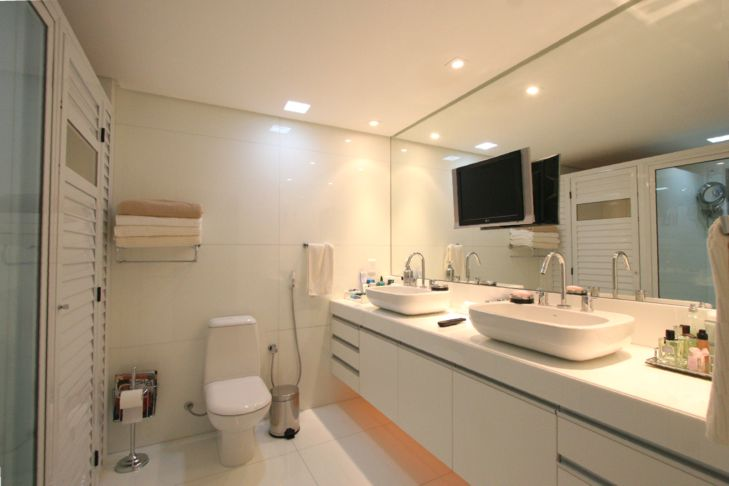 Decoração de Banheiro de Casal  Dicas e Fotos -> Banheiro Pequeno Casal