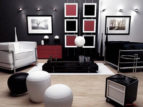 Decoração de Sala com Puffs – Dicas e Fotos