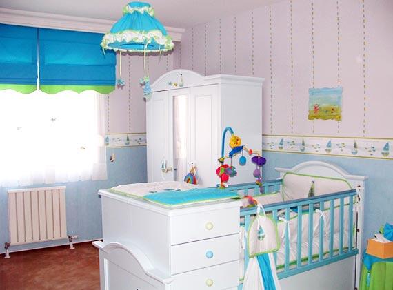 Decora o para quarto de beb meninas e meninos - Iluminacion para bebes ...