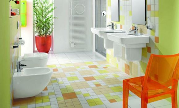decoracao-de-banheiros-coloridos