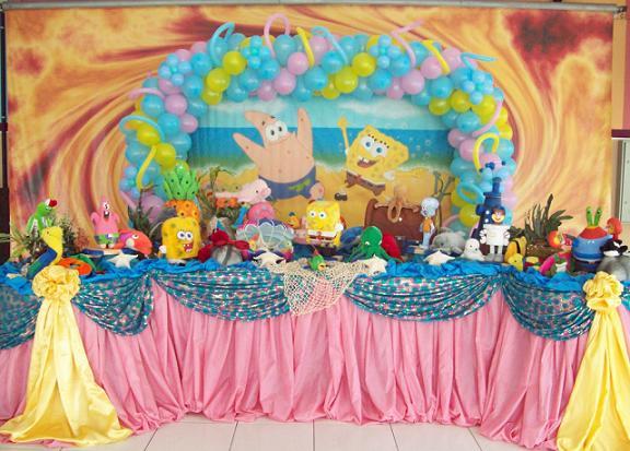 Decoração de Festa Bob Esponja – Aniversário Infantil, Mesa, Convites, Bolos