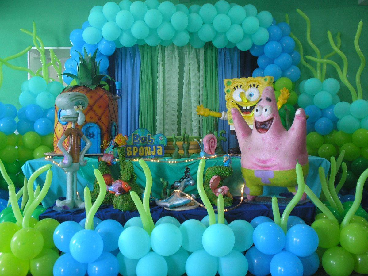 Decoração De Festa Bob Esponja Aniversário Infantil Mesa