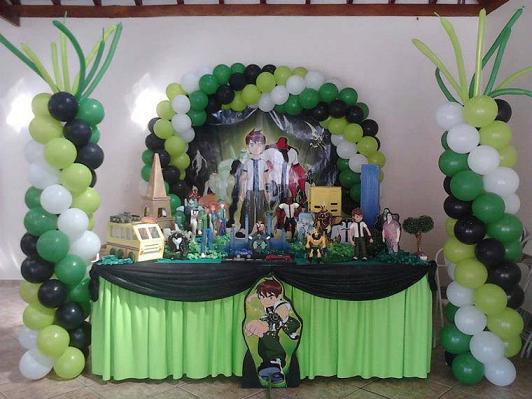 Decoração de Festa Tema Ben 10: Fotos, Ideias