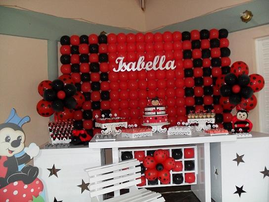 Decoração para Festa Infantil Tema Joaninha, Fotos e Modelos