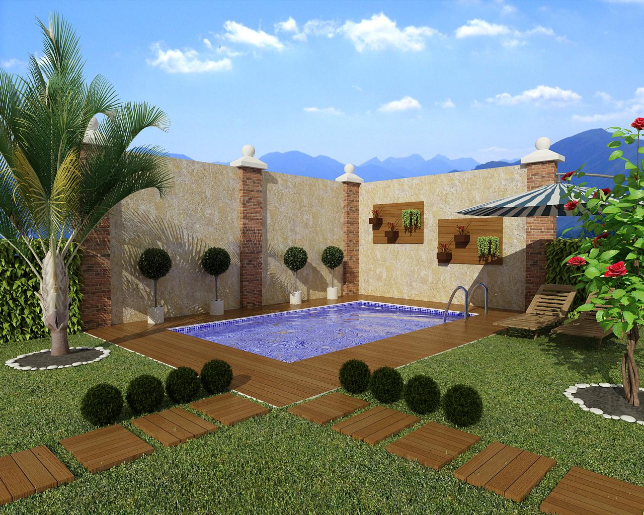 Decora o para jardim com piscina dicas e fotos for Ver modelos de piscinas