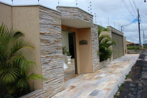 Frentes fachadas de casas populares fotos e modelos for Fachadas de frente de casas