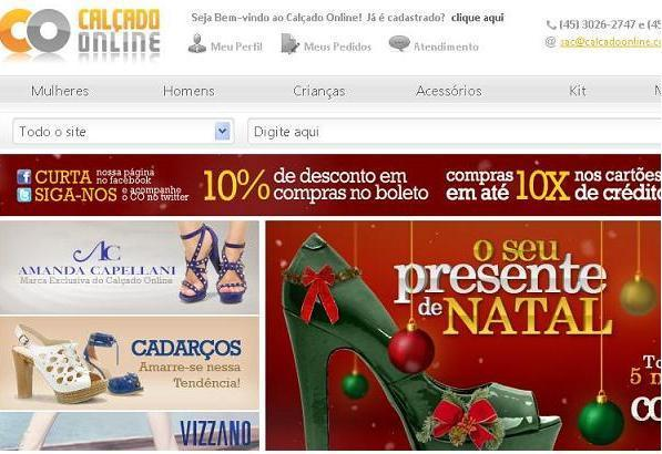 Loja Calçado Online – www.calcadoonline.com.br