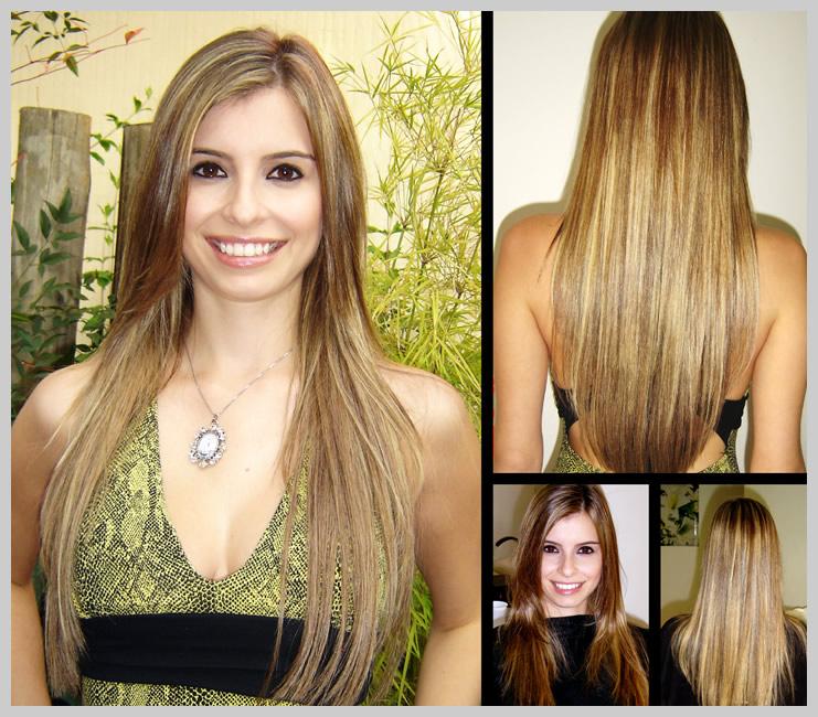 Mega Hair Alongamento de Cabelos