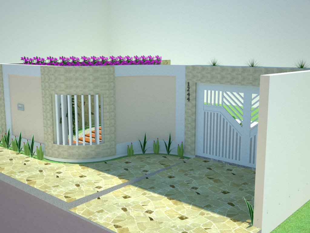 Muros e fachadas de casas simples e modernas fotos for Modelos parrillas para casas