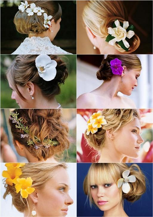 Penteados com Flores – Tendências para 2012