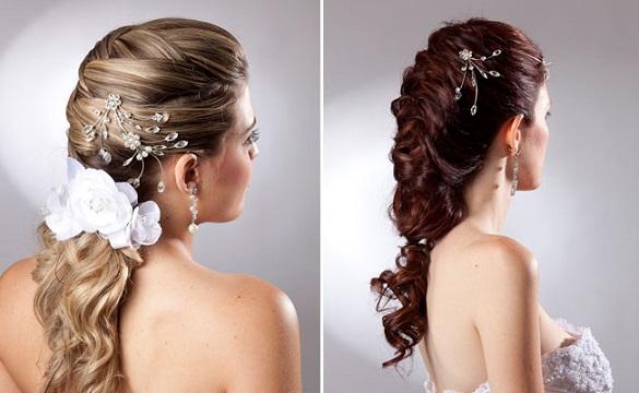 Penteados de Noivas Modernos e Chiques: Fotos