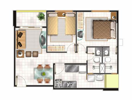 Plantas de casas pequenas gr tis modelos for Plantas arquitectonicas minimalistas