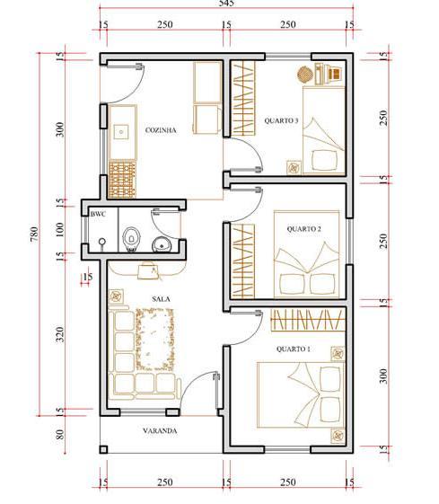 Plantas de casas para construir dicas e modelos for Plantas para casa