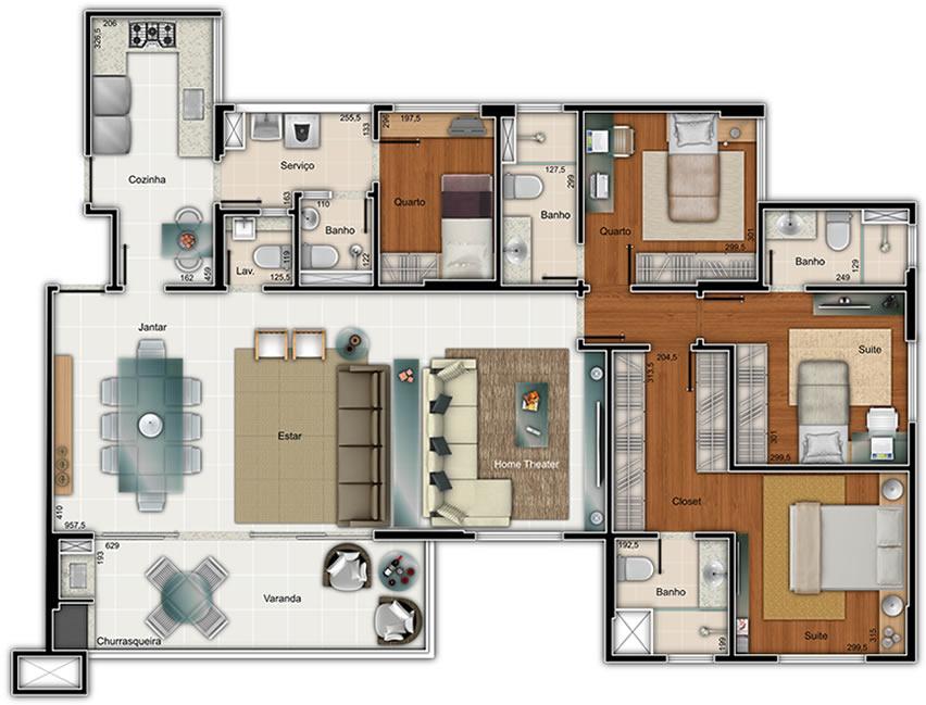 """Casa """"Ribeirao Preto"""" com 2 quartos e  - Plantas de Casas"""
