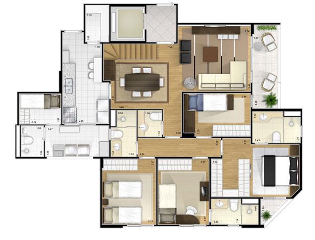 Plantas de casas modernas dicas e modelos for Casas en ele modernas