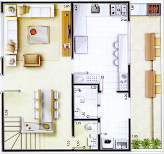 Plantas de casas modernas dicas e modelos for Plantas de casas tipo 3 modernas