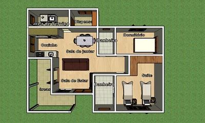 Projetos de casas modernas e simples fotos plantas baixas for Casas modernas simples