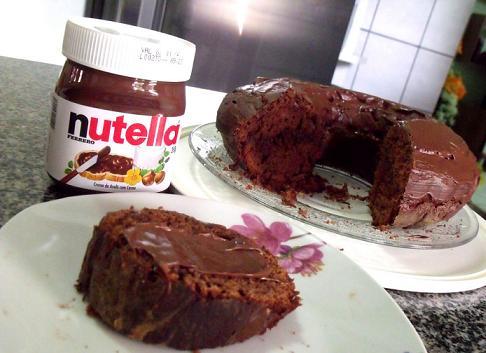 Receita de Cobertura de Nutella para Bolos