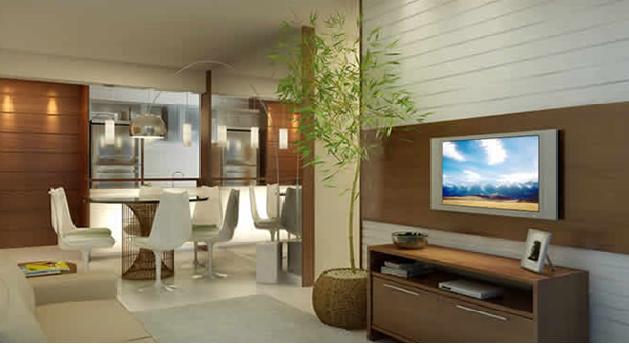 Decora o de sala de jantar conjugada com sala de estar for Modelos de sala de casa