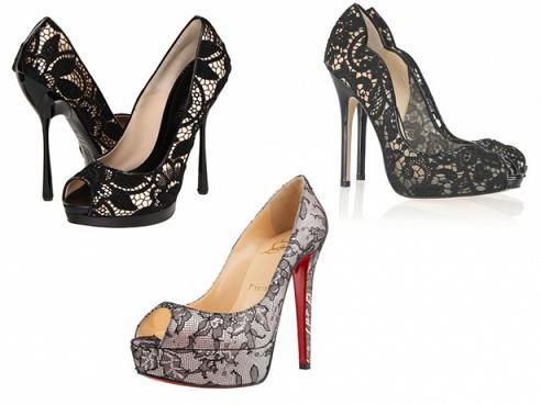 Sapatos de Renda Moda 2013, Dicas e Fotos