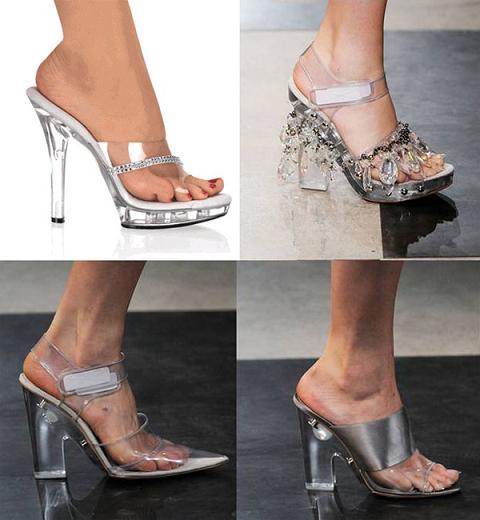 Sapatos Transparentes, Dicas e Fotos