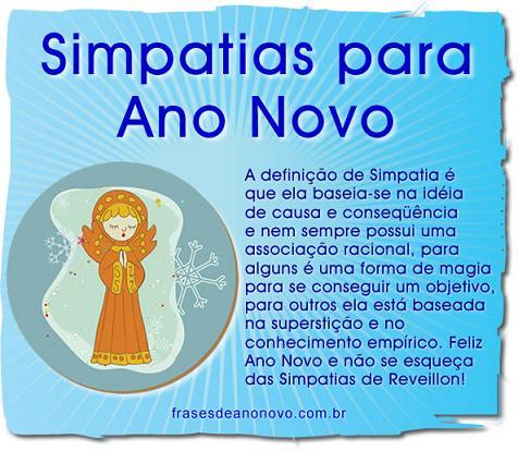 Simpatias para o Ano Novo 2014