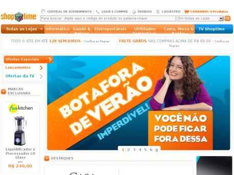 Site Shoptime – www.shoptime.com.br