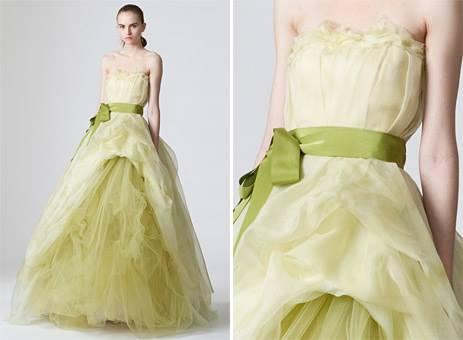 Vestidos de noiva verde simples