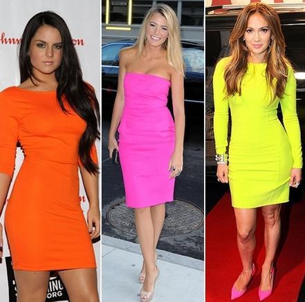 Vestidos Neon Moda 2013