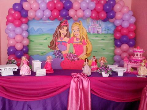 Decoração de Festa Infantil Barbie: Fotos, Castelo do Diamante e Segredo das Fadas