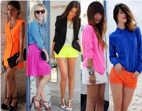 Moda Neon Verão 2014
