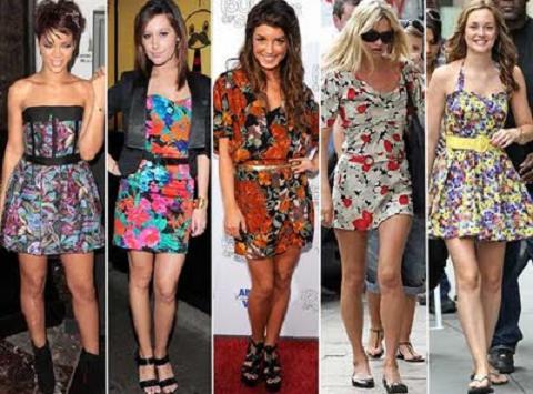 Moda Vestidos Estampados e Curtos – Tendências 2013