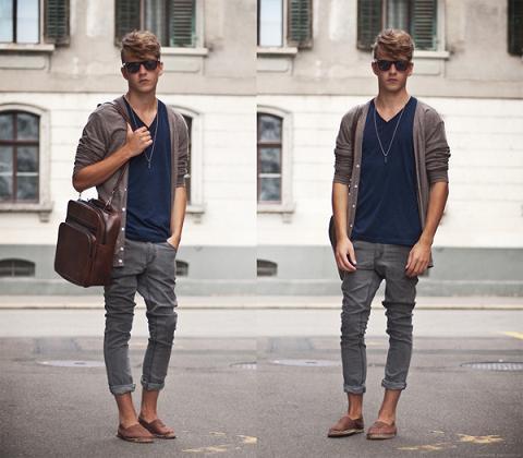 Modelos de Cardigan Masculino Moda 2014