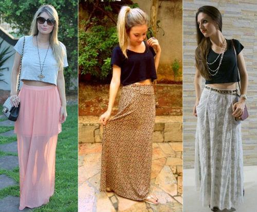 Modelos de Saias Longas Moda 2014 – Tendências, Fotos