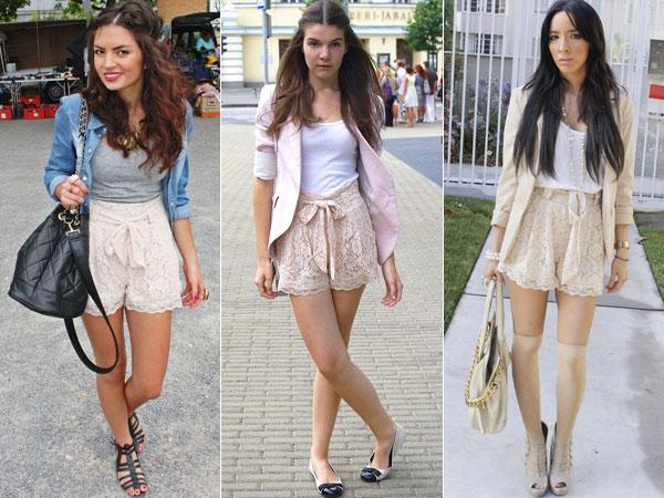 Shorts de Renda Femininos – Tendências 2012