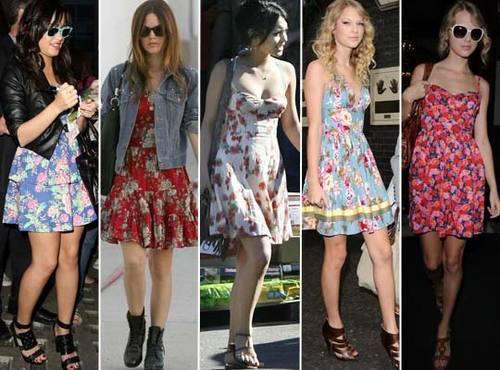 Vestidos com Estampas Florais – Primavera 2012