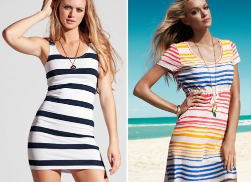 Vestidos Listrados 2012 – Dicas e Fotos